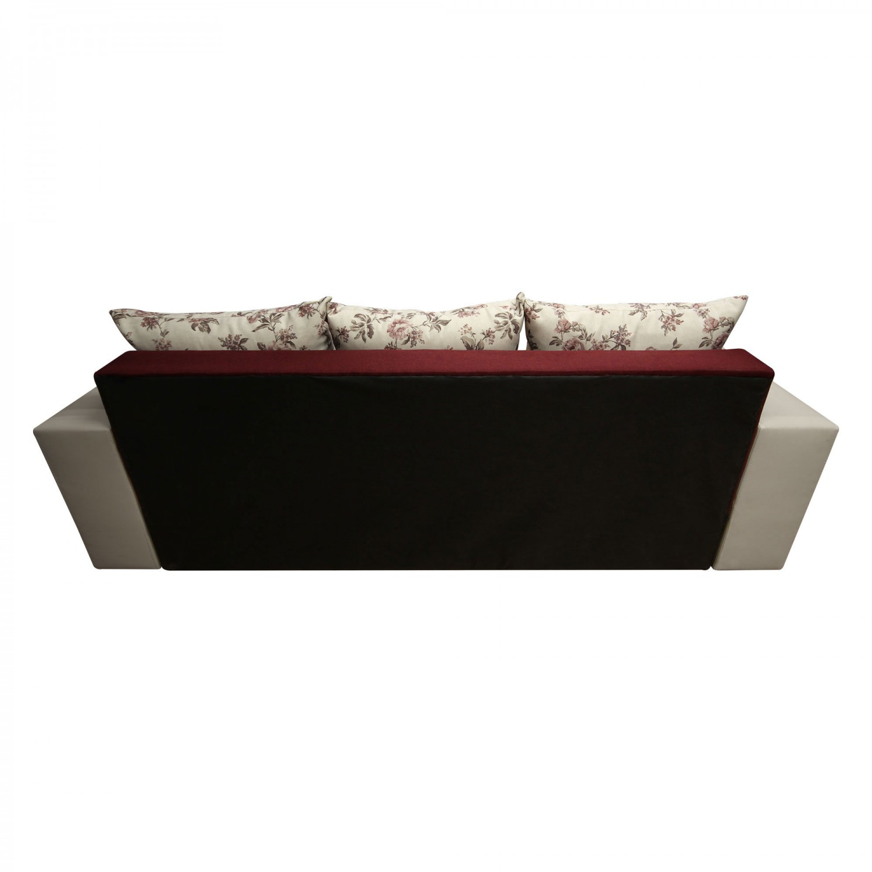 Canapea extensibila 3 locuri Cuba, cu lada, crem + bordo, 230 x 87 x 75 cm, 3C