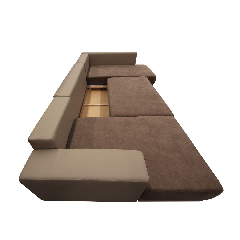 Coltar living extensibil pe stanga MM303 REC-2DL-OTM, maro, 319 x 170 x 80 cm, 3C
