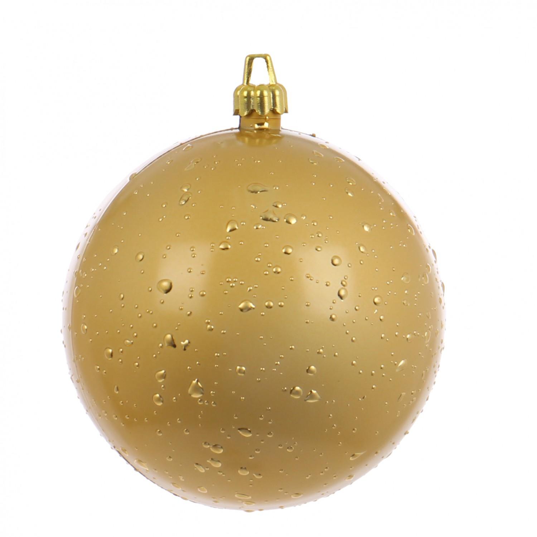 Globuri Craciun, auriu, D 12 cm, set 2 bucati, Rugiada