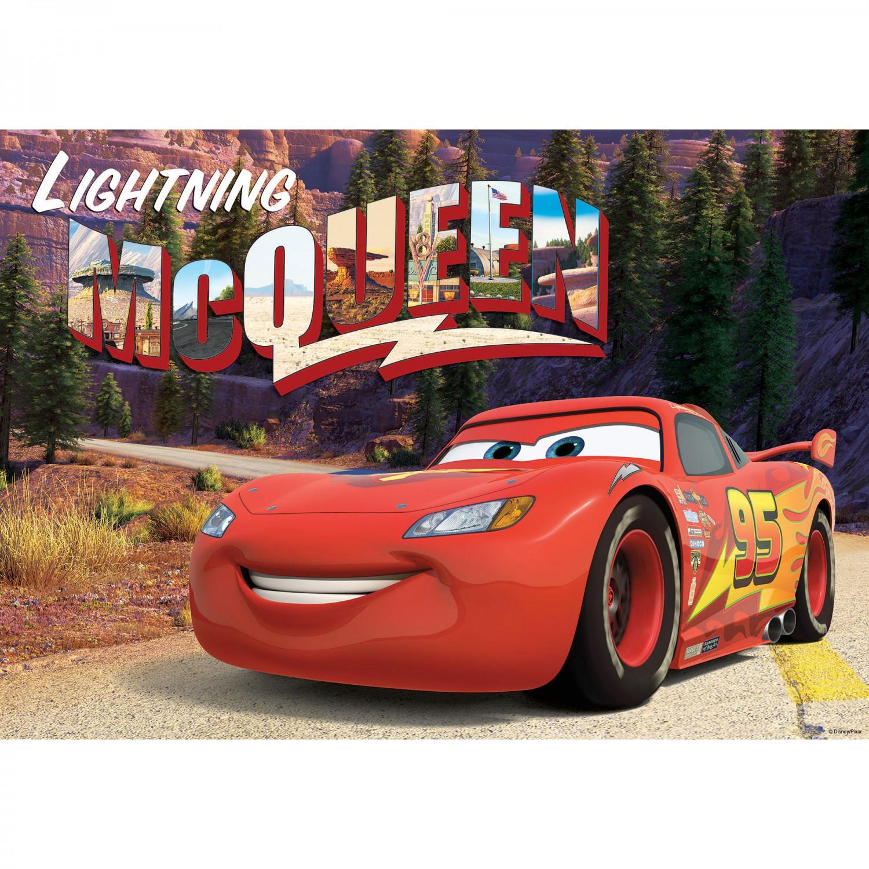 Fototapet copii duplex Disney Cars Lighting McQueen 10609P4 254 x 184 cm
