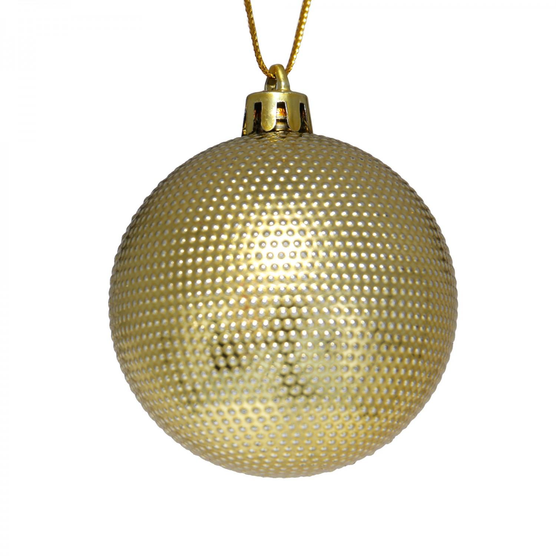 Globuri Craciun, aurii, D 6 cm, set 24 bucati, SD16-11A
