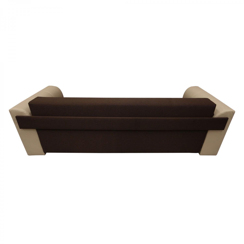 Canapea extensibila 3 locuri Cher, cu lada, maro + crem, 235 x 106 x 87 cm, 4C