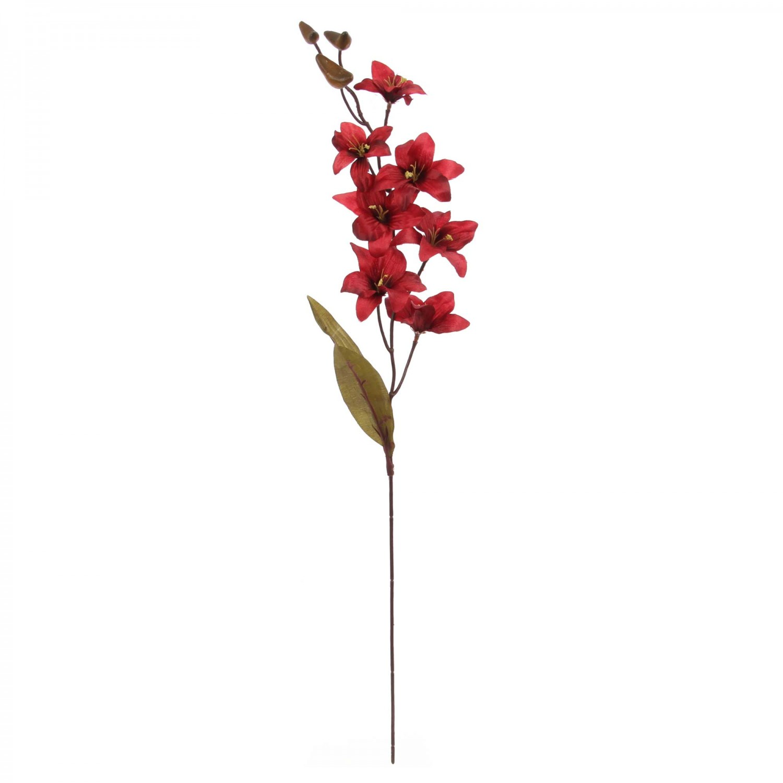 Floare artificiala 628, rosie, 67 cm