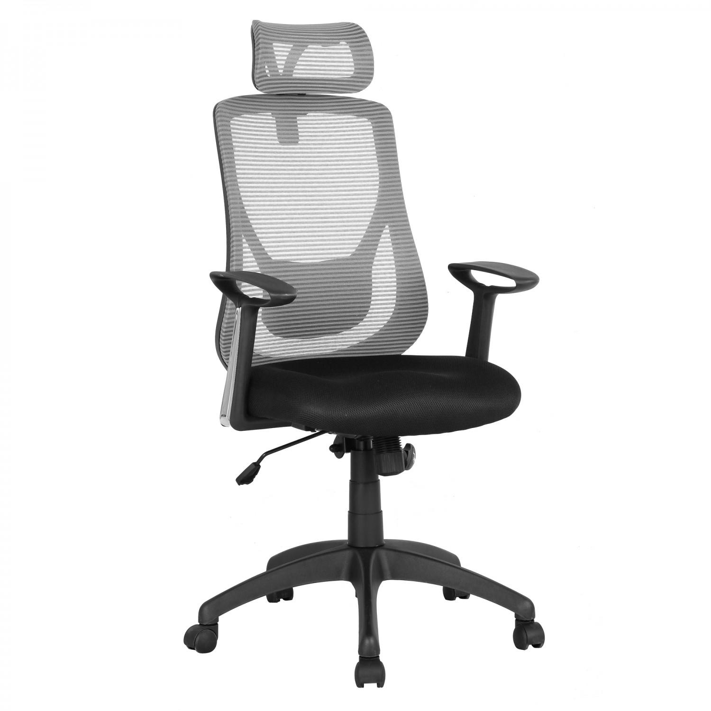 Scaun birou ergonomic HLC-1168F, rotativ, mesh, gri + negru