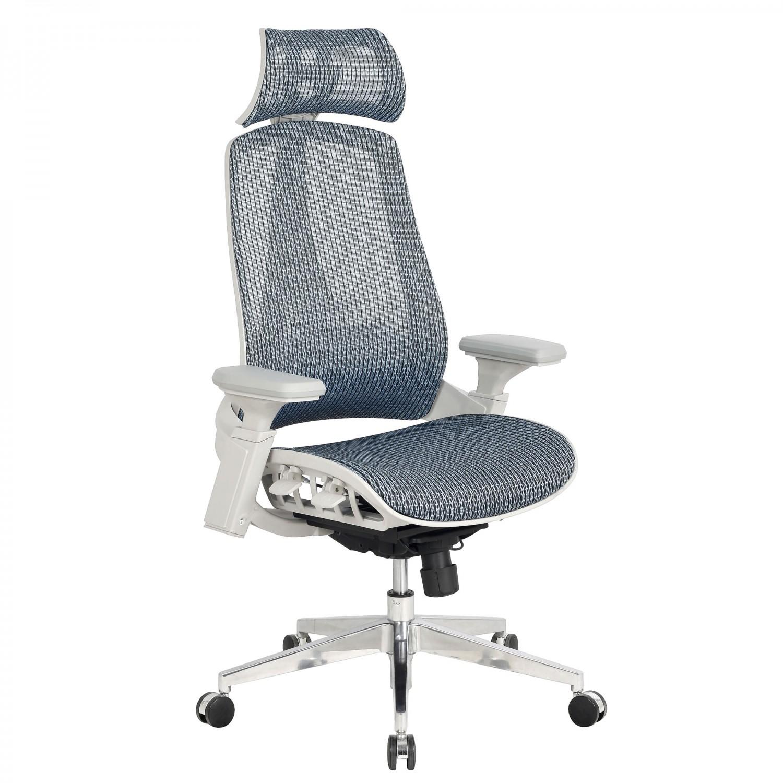 Scaun birou ergonomic HLC-1098F-1, rotativ, mesh, albastru