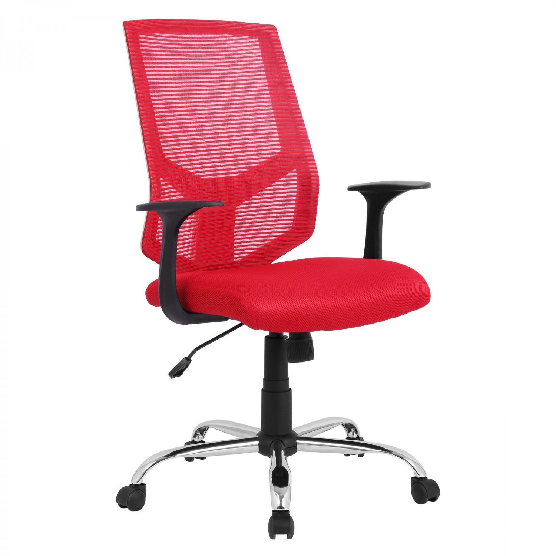 Scaun birou ergonomic HLC-1500F-C, mesh, rosu