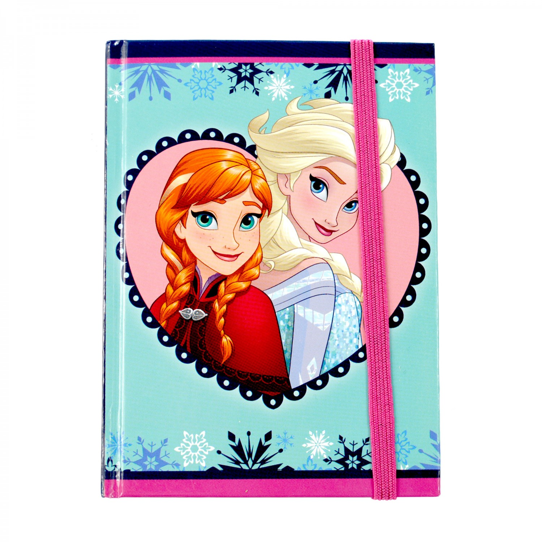 Carnetel Frozen cu elastic, 10 x 13 cm, 96 file, 4 modele