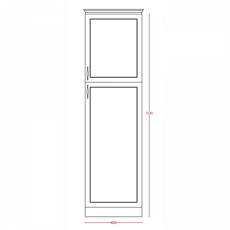 Dulap bucatarie Rhea, bej, 2 usi, 60 x 60 x 214 cm