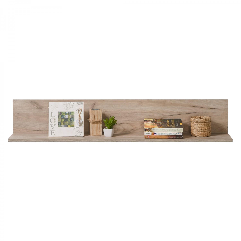 Biblioteca living Astor, stejar gri + alb lucios, 342 cm, 8C
