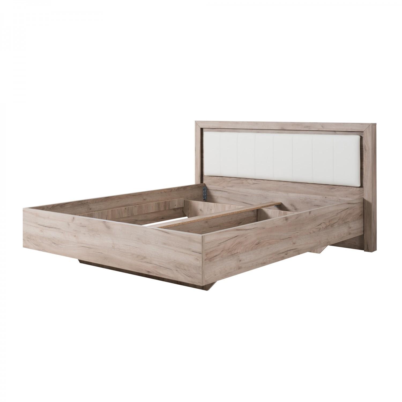 Dormitor complet Astor, stejar gri + alb lucios, 4 piese, 11C