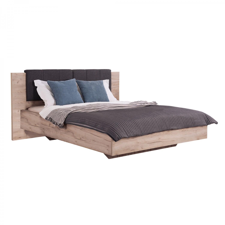 Dormitor complet David, 5 piese, stejar gri + alb lucios, 14C