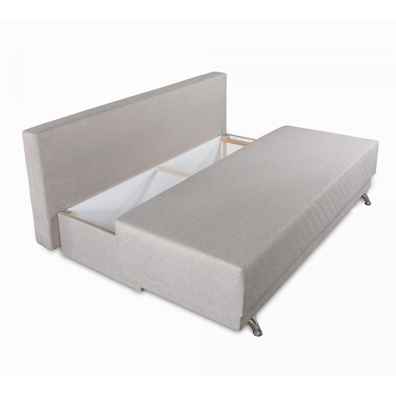 Canapea extensibila 3 locuri Karla, cu lada, bej, 205 x 60 x 78 cm, 2C