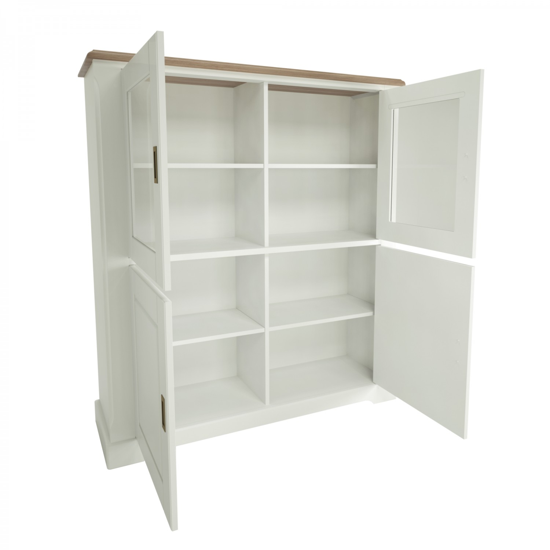 Biblioteca living Cottage 0162ENSBK, stejar natur + alb, 341 cm, 6C