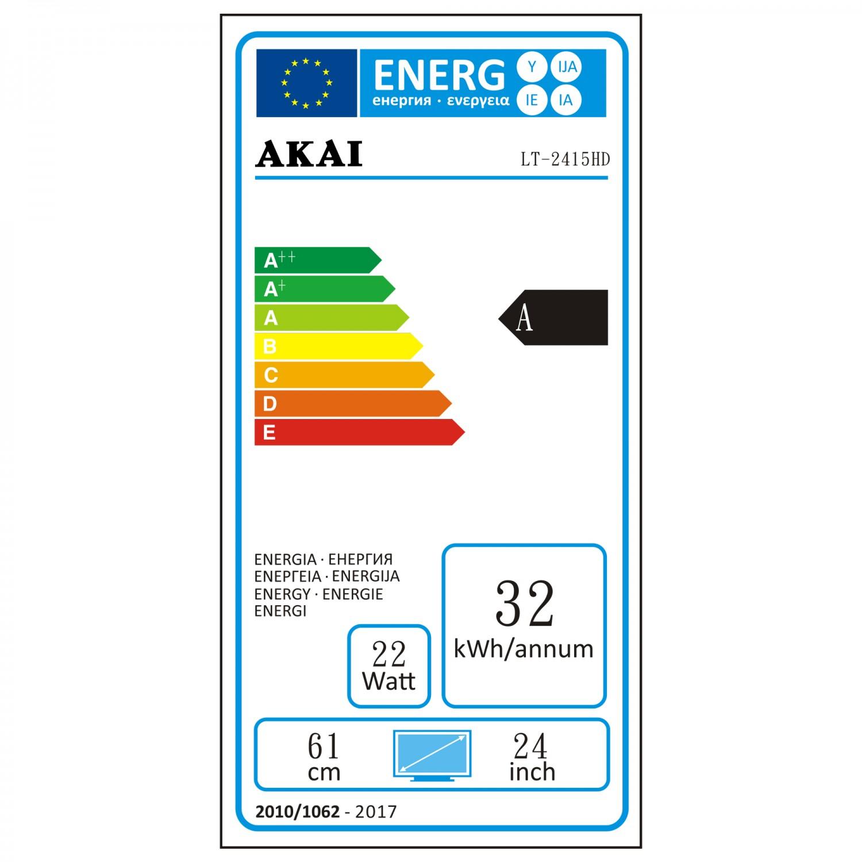 Televizor LED Akai LT-2415HD, diagonala 61 cm, Full HD, negru