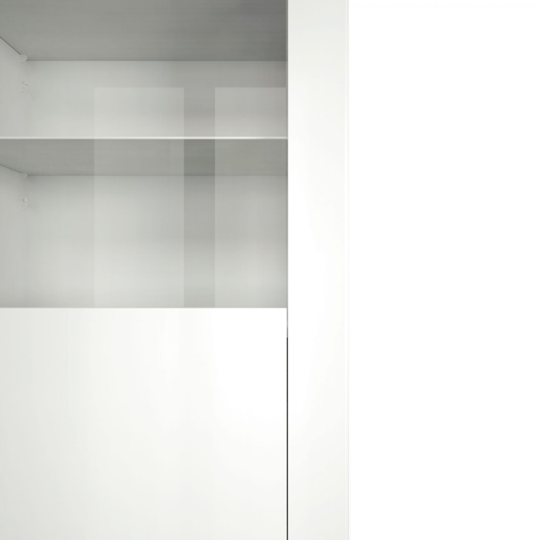 Vitrina living Orlando 0147VI1PK, alba, 68 x 36 x 180 cm, 2C