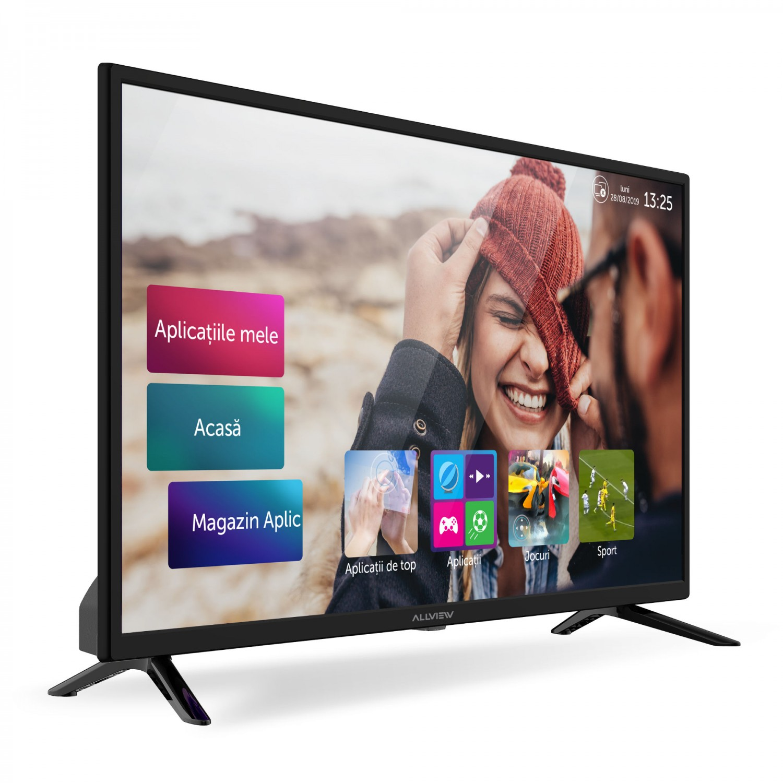Televizor LED Smart Allview 32ATS5000-H, diagonala 81 cm, HD, negru + argintiu