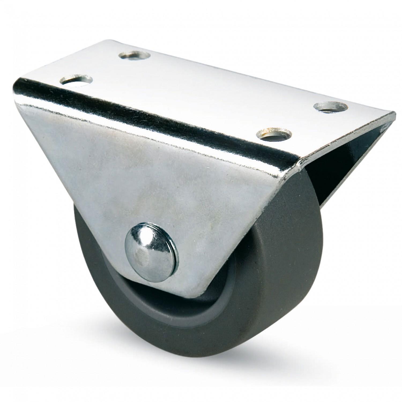 Rotila pentru mobila, cauciuc gri, diametru 50 mm