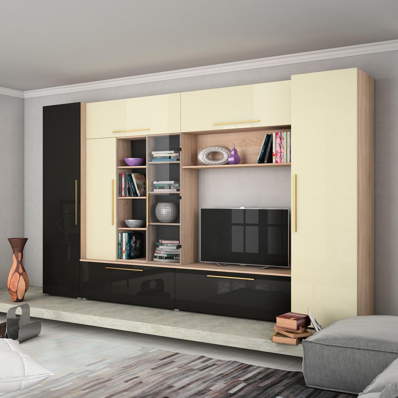 dedeman biblioteca living neo stejar bardolino negru