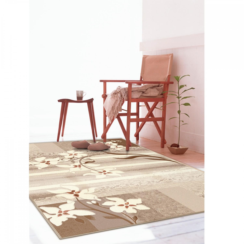 Covor living / dormitor Carpeta Delta 39721-43255 polipropilena heat-set dreptunghiular crem 120 x 170 cm
