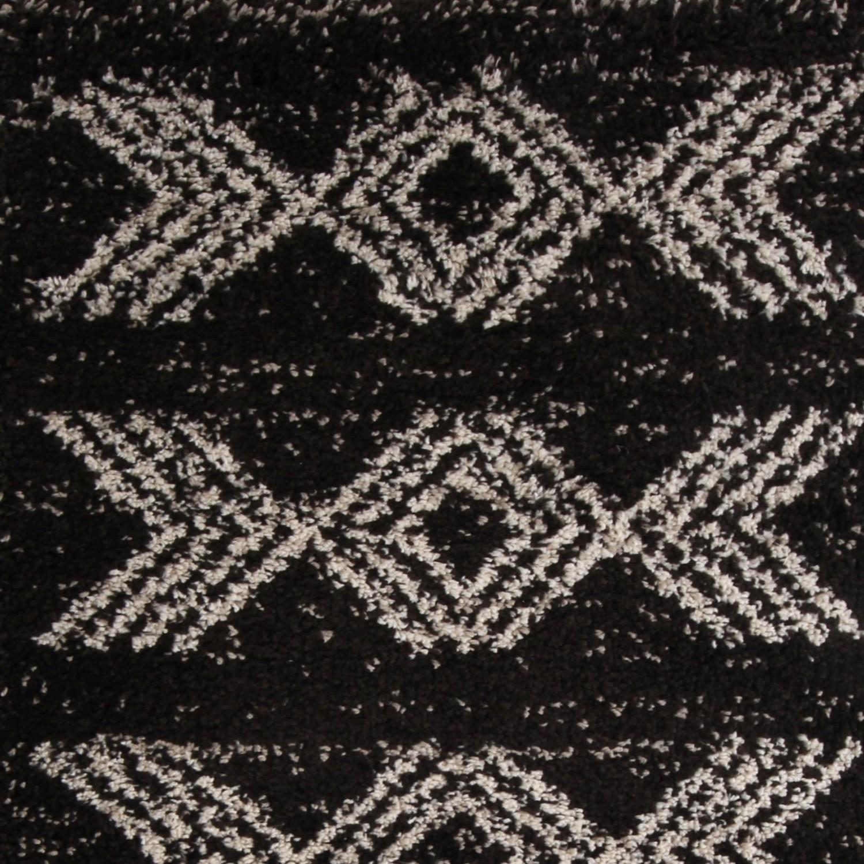 Covor living / dormitor McThree Boho 8741 H991 polipropilena frize dreptunghiular maro 200 x 290 cm
