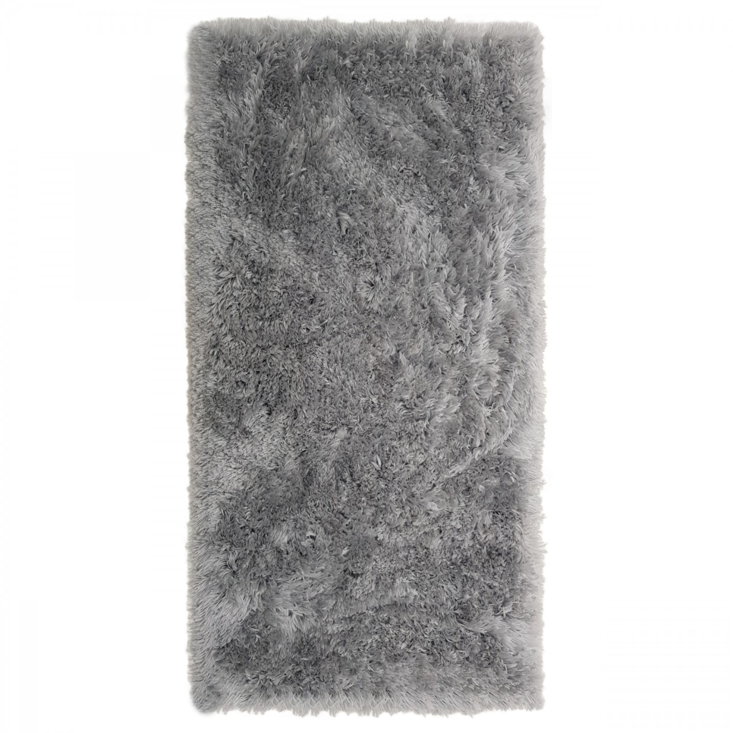 Covor living / dormitor Wuhan Chip Shaggy 4 poliester dreptunghiular gri 140 x 200 cm