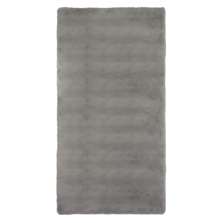 Covor living / dormitor Wuhan Chip Pes 18229 poliester dreptunghiular gri deschis 80 x 150 cm