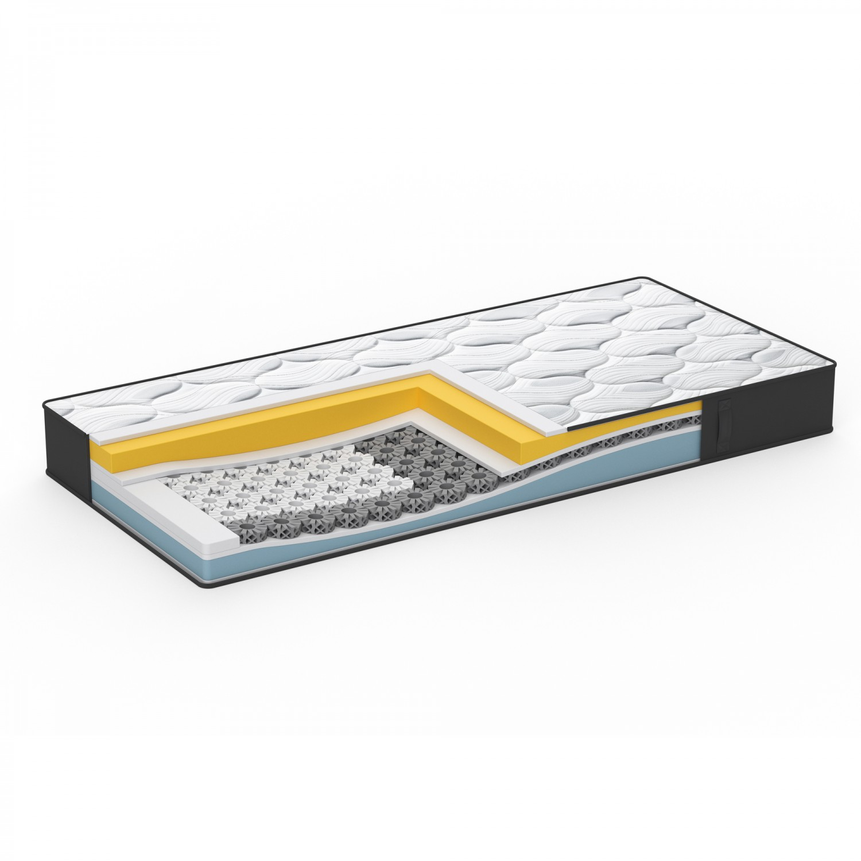 Saltea pat Dormeo iMemory S Plus II, 1 persoana, cu spuma memory + Ecocell, cu arcuri din spuma, 120 x 200 cm