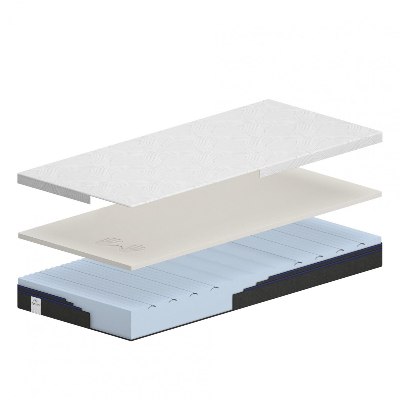 Saltea pat Dormeo Platinum Deluxe, 1 persoana, ortopedica, cu spuma Ecocell + memory, fara arcuri, 90 x 200 cm