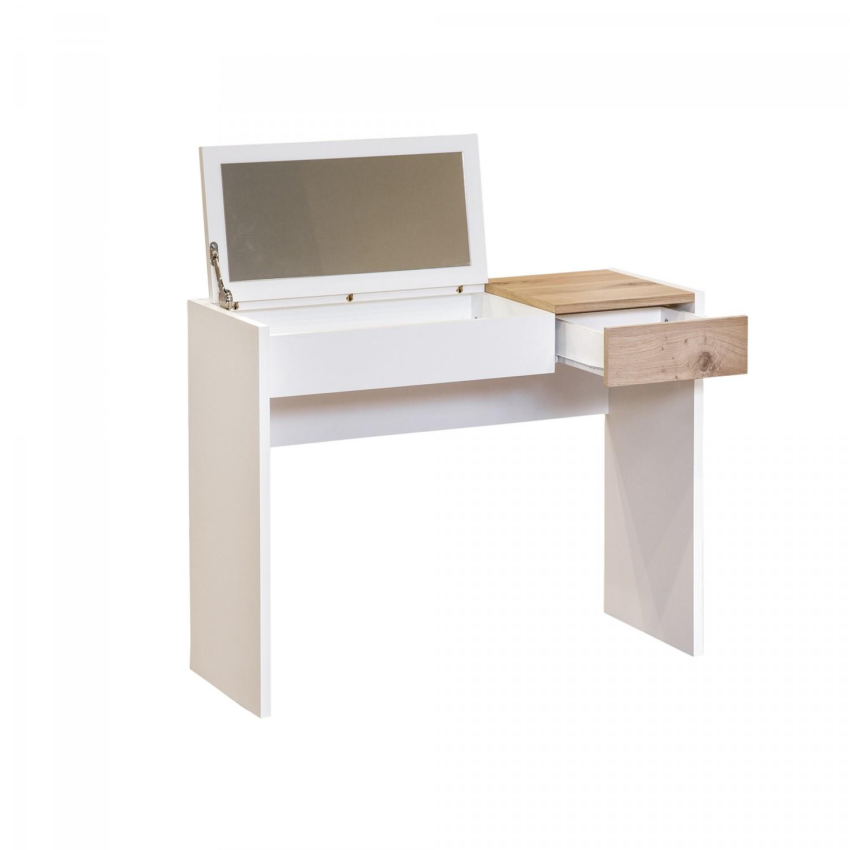 dedeman masa toaleta fougueuse 7347 cu sertar alb stejar 100 x 77 x 38 cm 1c dedicat. Black Bedroom Furniture Sets. Home Design Ideas