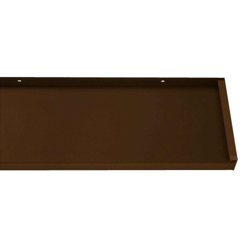 Glaf aluminiu exterior pentru ferestre, maro RAL 8017, 18 x 300 x 0.16 cm