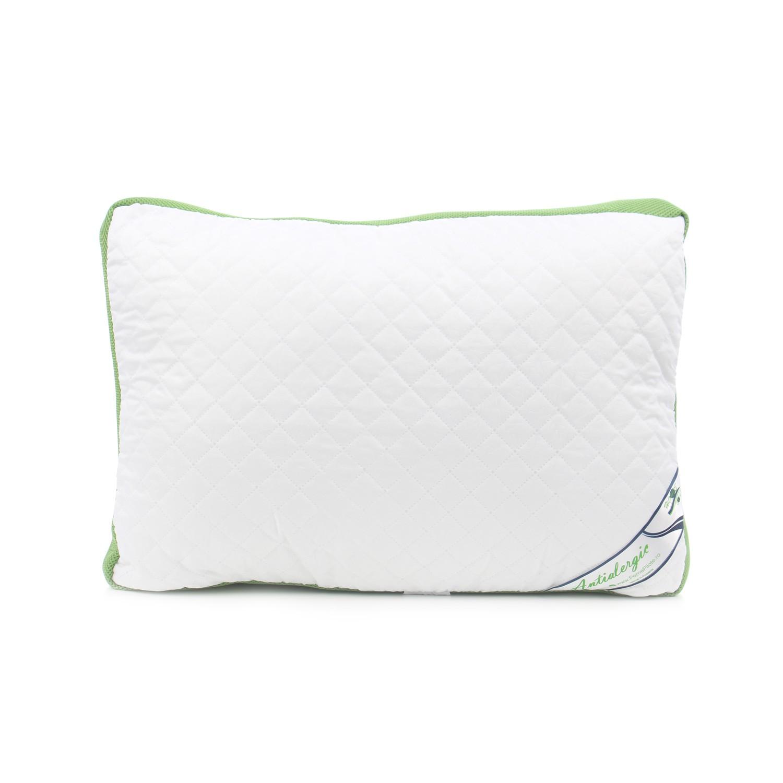 Perna pentru dormit Meltem Lux ortopedica puf siliconizat antialergic + microfibra alb 50 x 70 cm