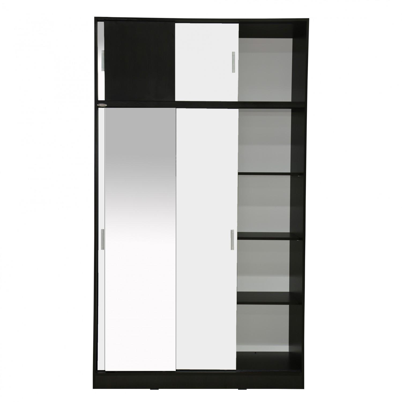 Dulap dormitor Raul D3, magia + alb, 6 usi glisante, cu oglinda, 120 x 50 x 210 cm, 3C