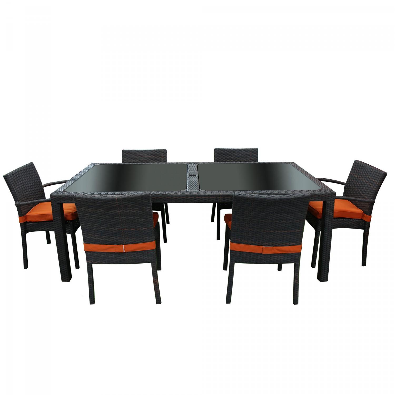 Dedeman set venetia masa cu 6 scaune din ratan sintetic for Masa cu scaune dedeman