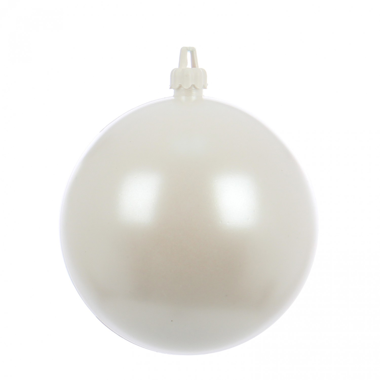 Globuri Craciun, alb, D 10 cm, set 2 bucati