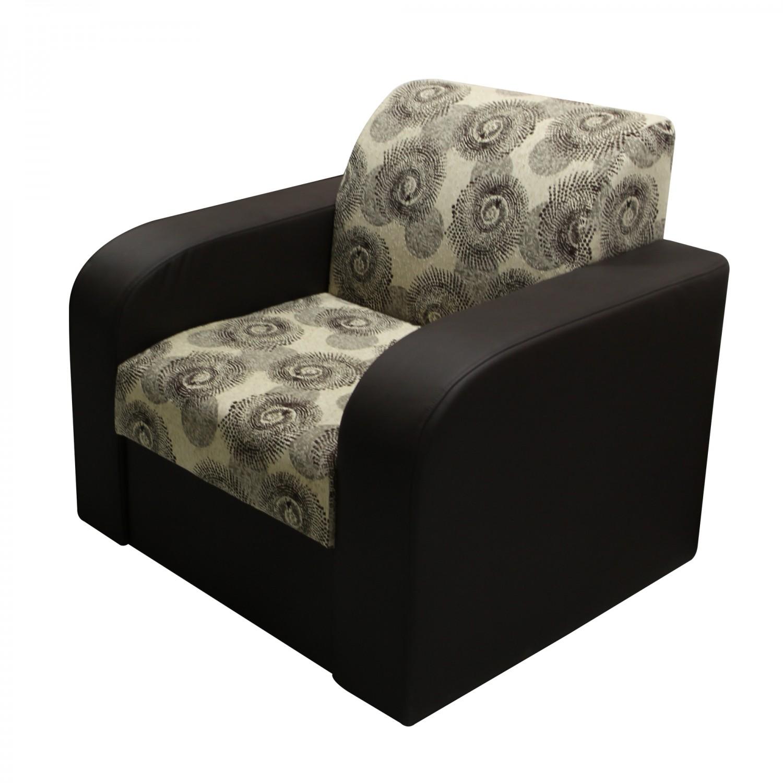 Canapea extensibila + fotolii Mini, maro + crem, 3C