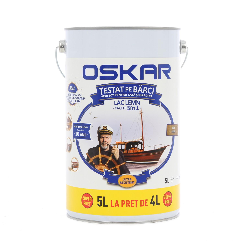 Lac pentru lemn Oskar Yacht, nuc inchis, interior / exterior, 5 L