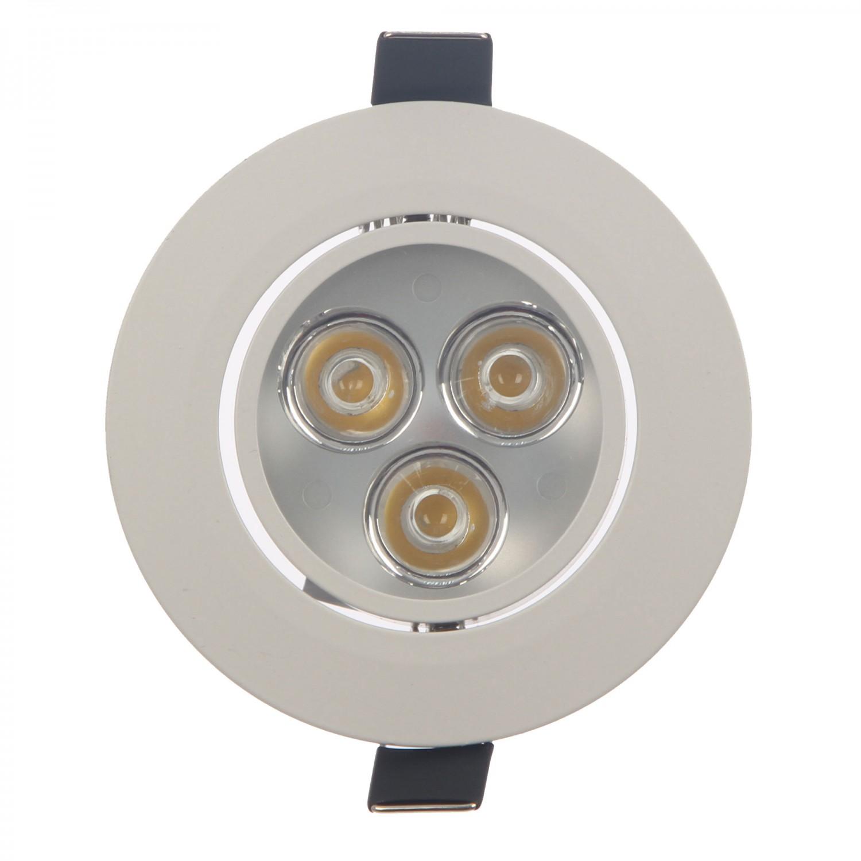 Spot LED incastrat MT 115 70316, 3W, lumina neutra, alb mat