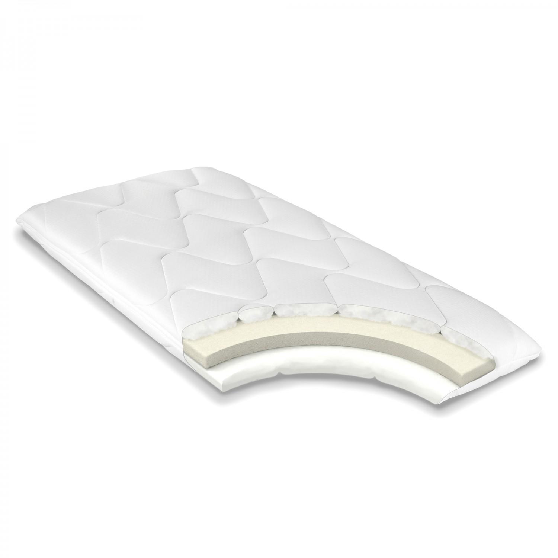 Saltea pat Bedora ortopedica, 1 persoana, cu spuma poliuretanica, fara arcuri, pentru copii, 60 x 120 cm + pilota + perna