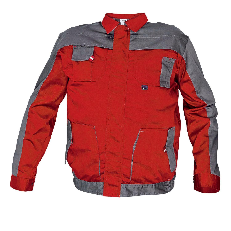 Jacheta de lucru Cerva Asimo, poliester + bumbac, rosu, cu buzunare, marimea 50