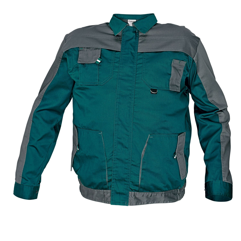 Jacheta de lucru Cerva Asimo, poliester + bumbac, verde, cu buzunare, marimea 58