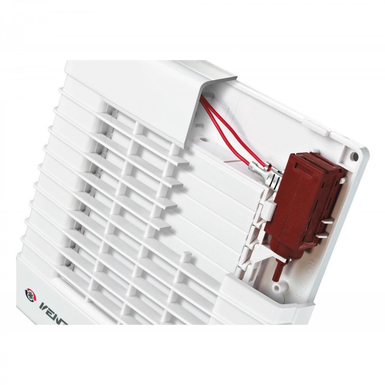 Ventilator automat cu timer Vents 100 MAT, D 100 mm, 18 W, 2300 RPM, 98 mc/h