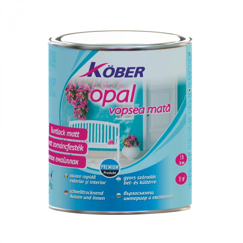 Vopsea alchidica pentru lemn / metal, Kober Opal, interior / exterior, alb, 2.5 L