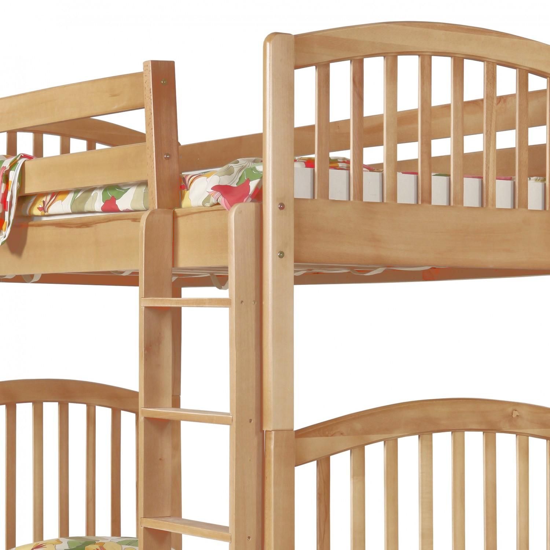 Pat dormitor Classic, dublu, supraetajat, fag, 90 x 190 cm, 3C
