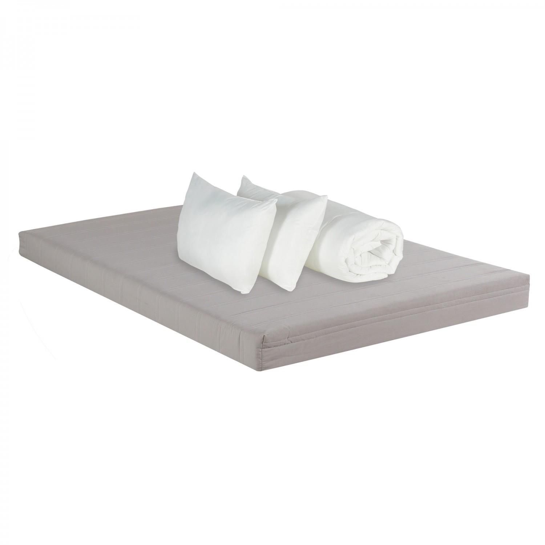 Saltea pat Bedora Combo Starter, cu spuma poliuretanica, fara arcuri, 140 x 200 cm + pilota + perne