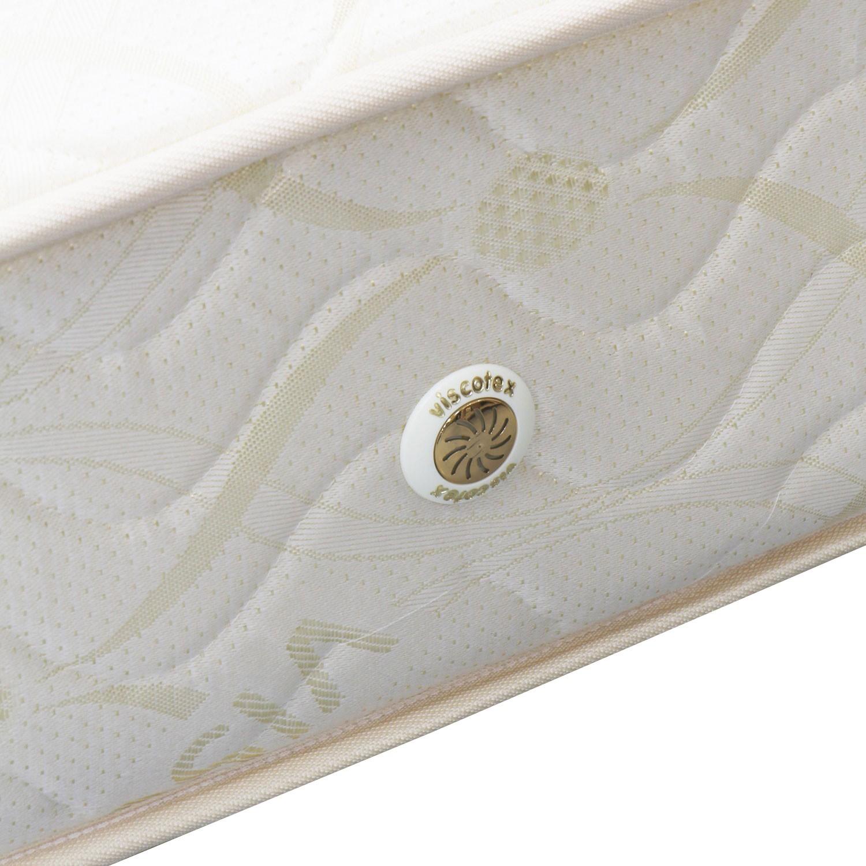 Saltea pat Viscotex superortopedica, 1 persoana, cu spuma poliuretanica, cu arcuri, 100 x 200 cm