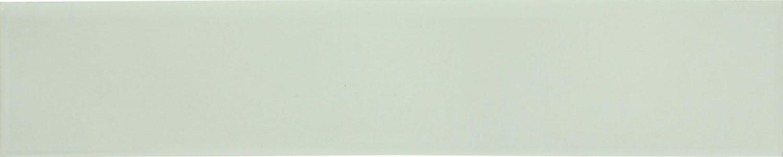 Plinta gresie ceramica Bianco Lucido, mata, alba, 8 x 45 cm
