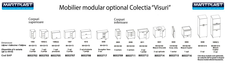 Dulap bucatarie Visuri, caz 5 - Magurele, pentru cuptor, negru mat, 2 usi, 60 x 60 x 214 cm
