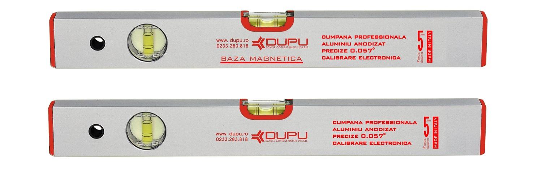 Nivela cu bula, magnetica, Dupu 452500, cu 2 indicatori, din aluminiu, 500 mm