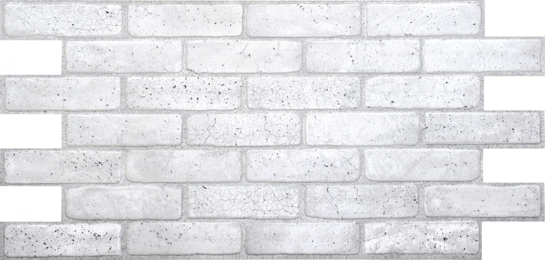 Panou decorativ Old Grey Brick, PVC, gri, 97.1 x 48.9 cm, 0.4 mm