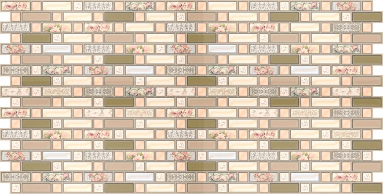 Panou decorativ Mosaic Provence, PVC, multicolor, 94.8 x 48 cm, 0.3 mm